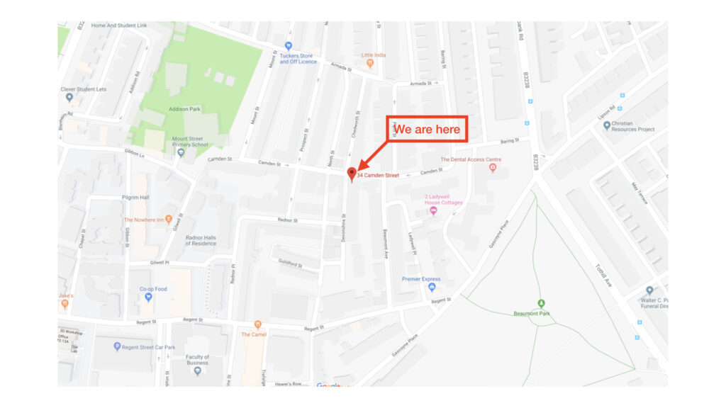Map view of Camden Street Venue