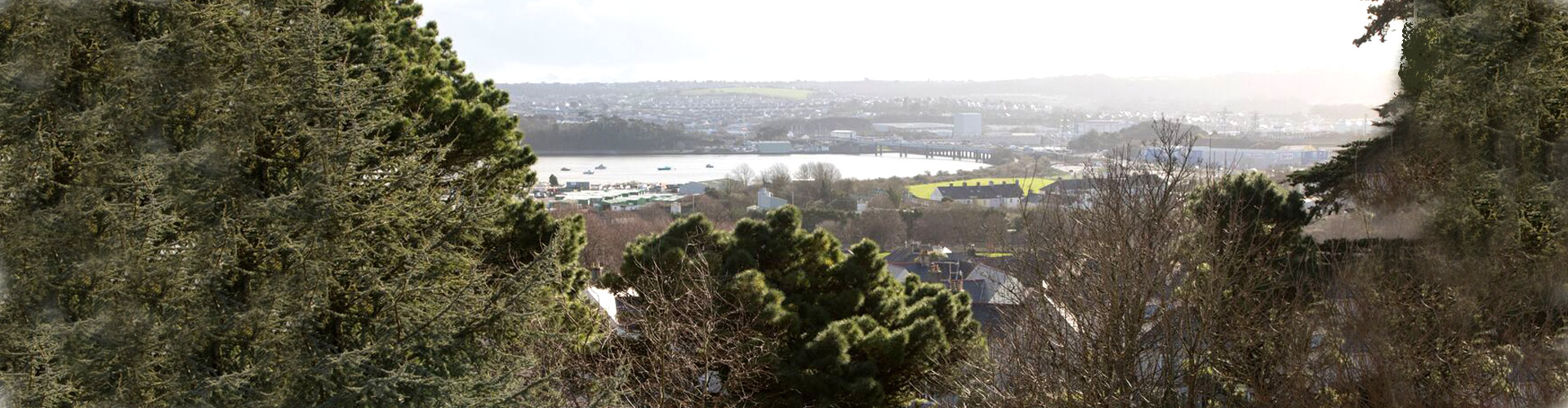 arial view over Plymouth
