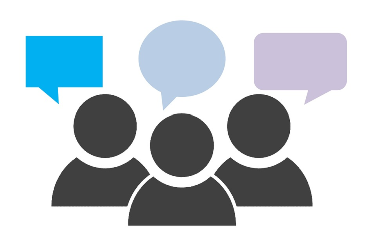 image of people icons with speech bubbles above